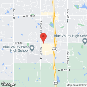 Map of Verizon Authorized Retailer – TCC at 8061 W. 159th St, Overland Park, KS 66223