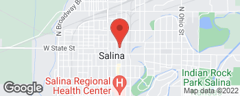 Map of 131 N Santa Fe Ave in Salina