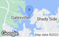 Map of Shady Side, MD