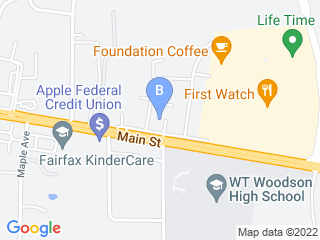 Map of Fur Family Pet Services Dog Boarding options in Fairfax | Boarding