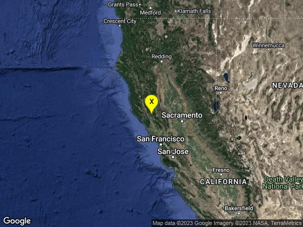 earthquake 9km WNW of Cobb, CA