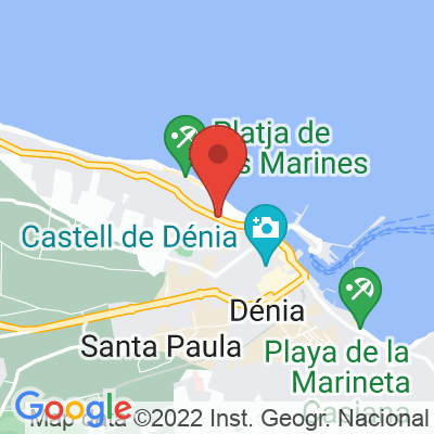 Map showing Cafe Ciclista
