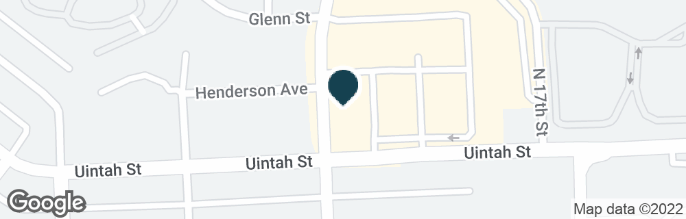 Google Map of625 N 19TH ST