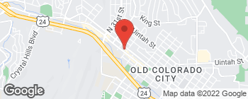 Mapa de 2812 W Colorado Ave en Colorado Springs