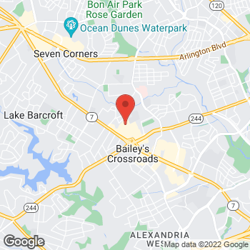 Map of Bed Bath & Beyond at 5810 Crossroads Center Way, Falls Church, VA 22041