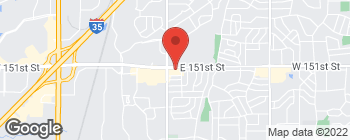 Map of 1463 E 151st St in Olathe