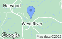 Map of West River, MD