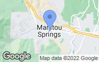 Map of Manitou Springs, CO
