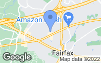 Map of Fairfax, VA