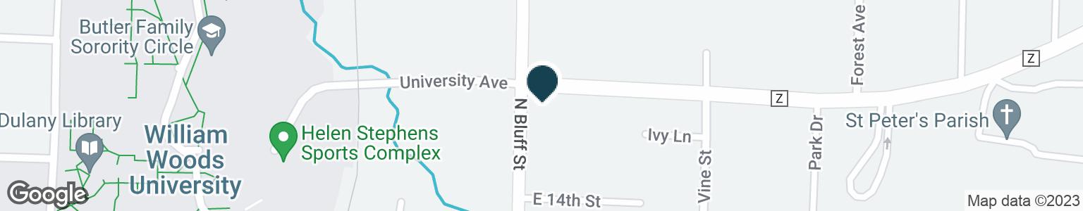 Google Map of1410 N BLUFF ST