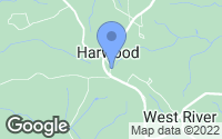 Map of Harwood, MD