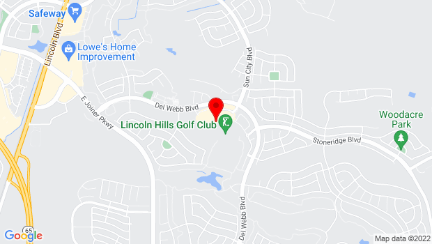 Google Map of 965 Orchard Creek Lane, Lincoln, CA 95648