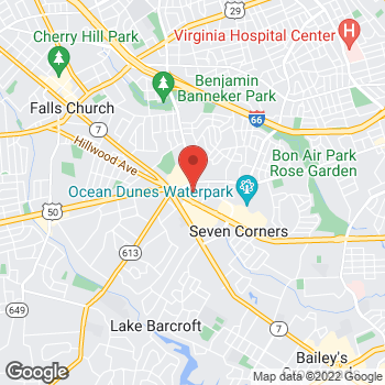 Map of Guitar Center at 6272 Arlington Blvd, Falls Church, VA 22044