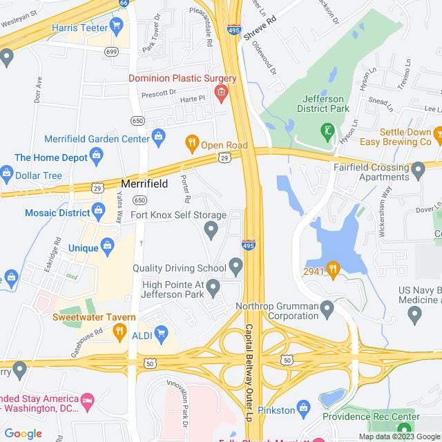 Map of 495 Express Lanes