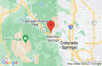 Map of Manitou Springs