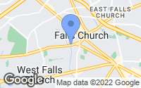 Map of Falls Church, VA
