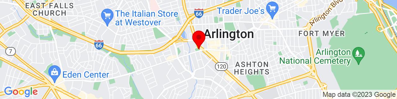 Google Map of 38.8801314, -77.11504939999999