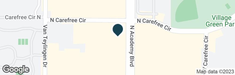 Google Map of3480 N ACADEMY BLVD