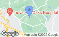 Map of Oakton, VA