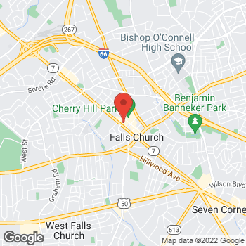 Map of Hair Cuttery at 354 W Broad St, Falls Church, VA 22046