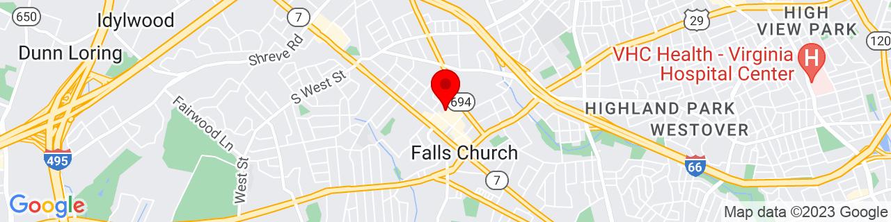 Google Map of 38.8863717, -77.1734484