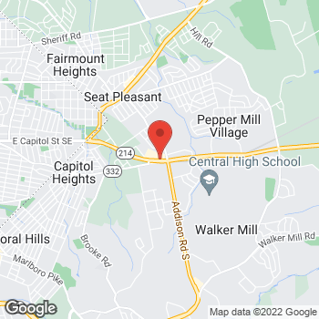 Map of Taco Bell at 6250 Central Ave, Capitol Heights, MD 20743