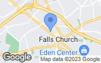 Map of Falls Church, VA