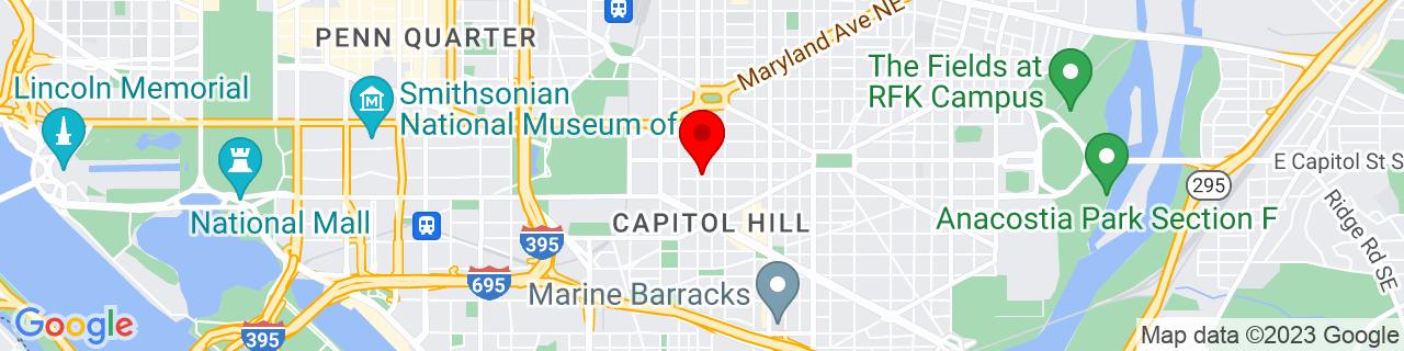 Google Map of 38.888888888888886, -77.00027777777778