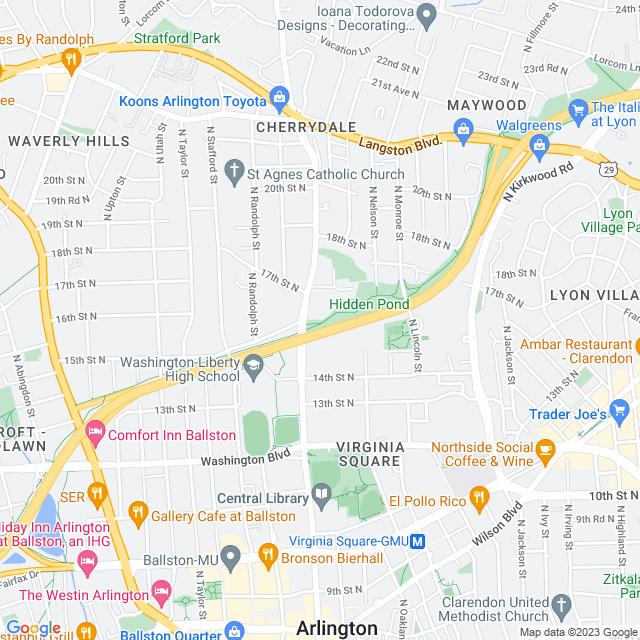 Map of I-66 Express Lanes