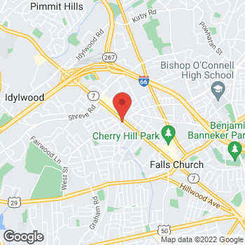 Map of Taco Bell at 935 West Broad Street, Falls Church, VA 22046
