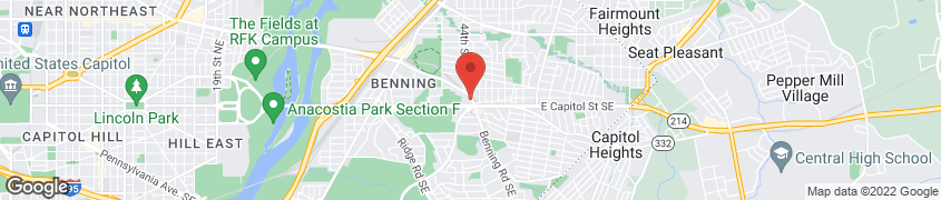 Map of 4445 Benning Rd NE in Washington