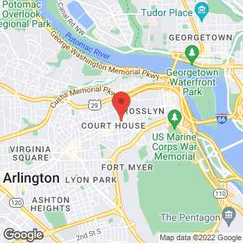 Map of Hair Cuttery at 2020 Wilson Boulevard Retail A2, Arlington, VA 22201