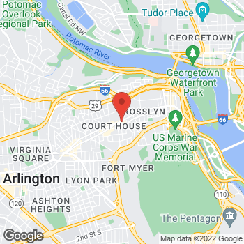 Map of Hair Cuttery at 2020 Wilson Boulevard, Arlington, VA 22201