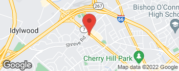 Map of 1231 W Broad St in Falls Church