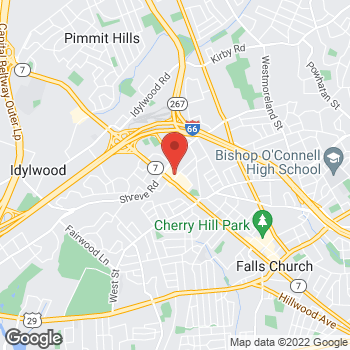 Map of Hair Cuttery at 1220 W Broad St, Falls Church, VA 22046