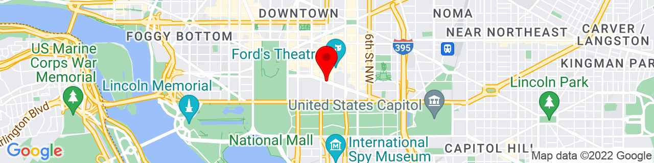 Google Map of 38.8947634, -77.02707889999999
