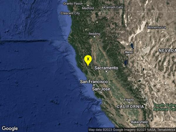 earthquake 10km SSW of Kelseyville, CA