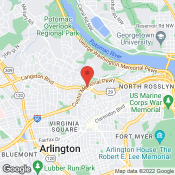 Map of Verizon Authorized Retailer, TCC at 3141 Lee Highway, Arlington, VA 22201
