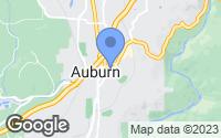 Map of Auburn, CA