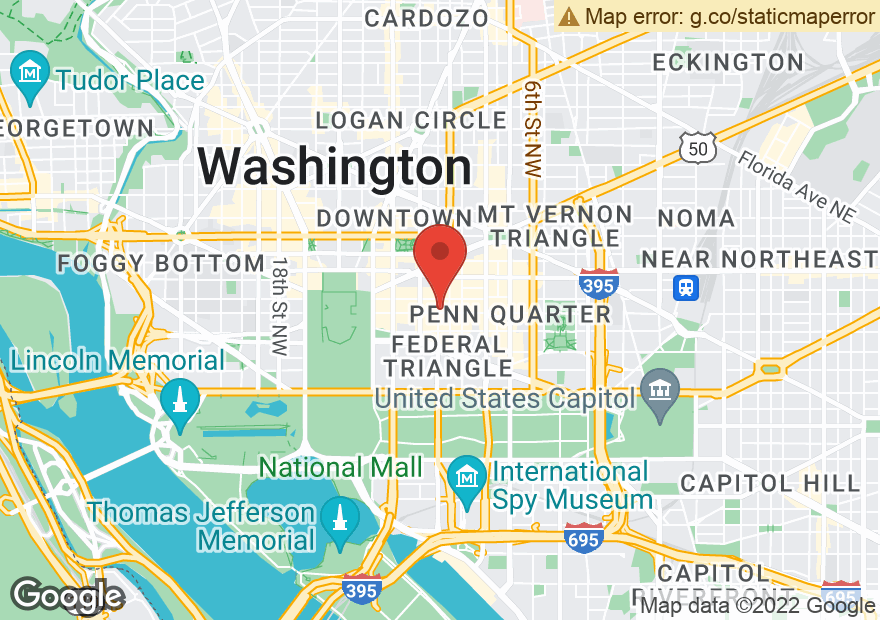 Google Map of 1155 F STREET NW