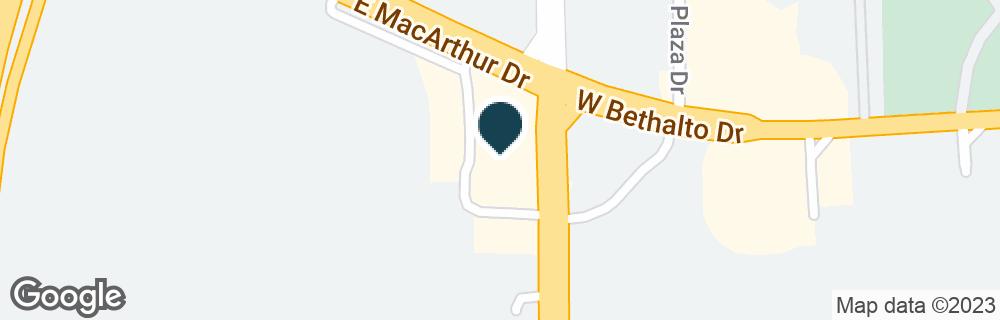 Google Map of172 E MCARTHUR DR