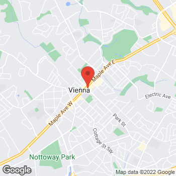 Map of Noodles & Company at 201 Maple Avenue East, Vienna, VA 22181