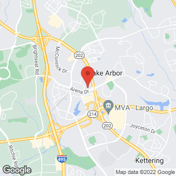 Map of Rite Aid at 9810 Apollo Drive, Largo, MD 20774