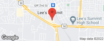 Map of 286 SW Blue Pkwy in Lees Summit