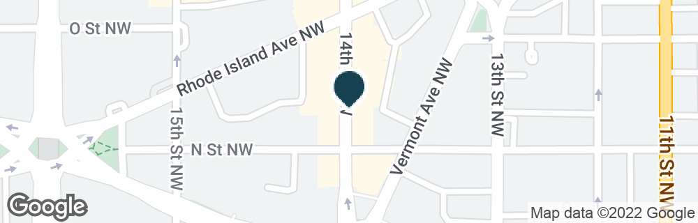 Google Map of1325 14TH ST NW