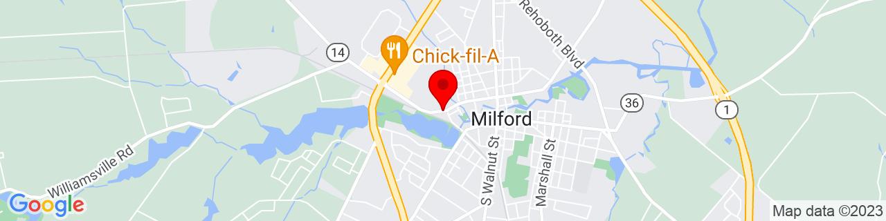 Google Map of 38.9131469, -75.4350443