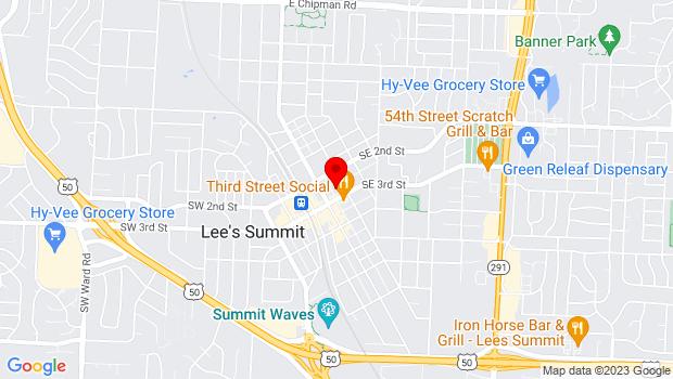 Google Map of 220 SE Green Street, Lees Summit, MO 64063