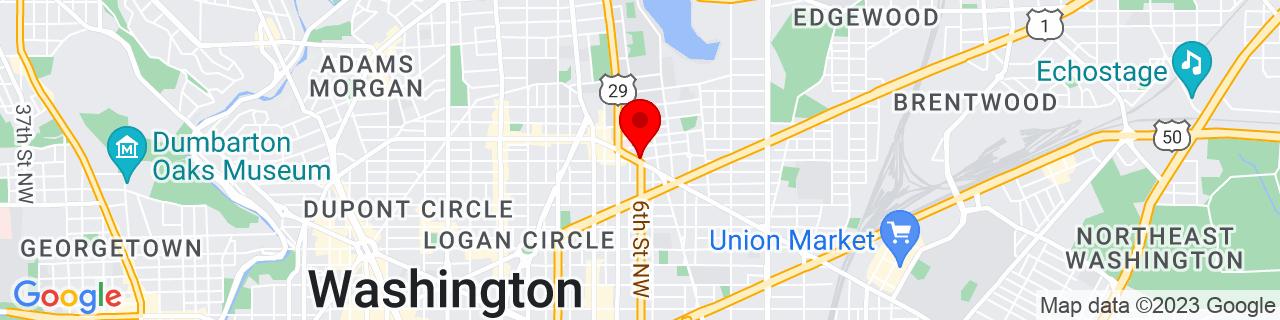 Google Map of 38.9156606, -77.019983