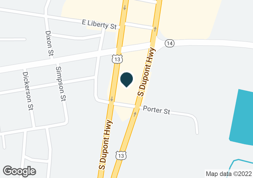 Google Map of17248 S DUPONT HWY
