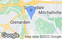 Map of Glenarden, MD